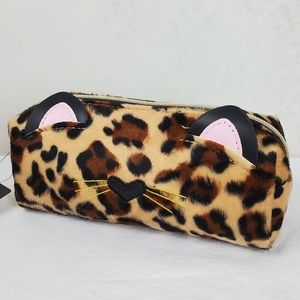 Jade & Deer Kitten Face Cosmetic Bag